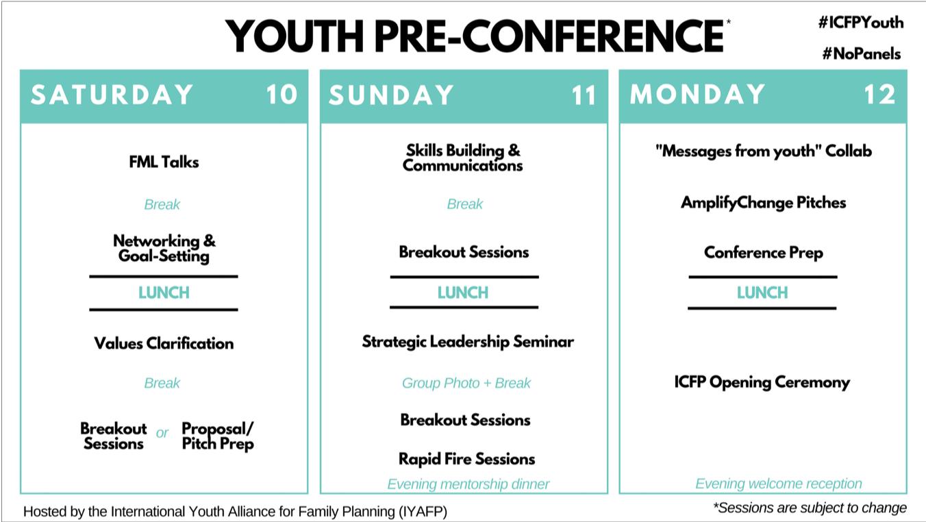 Youth Pre-Conference - International Conference on Family Planning 2018