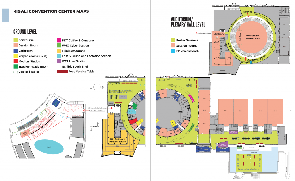 Venue Map & Exhibitor List - International Conference on Family Planning  2018